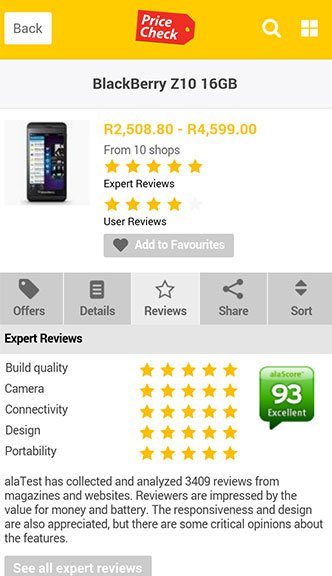 Pricecheck MTN Reviews page
