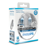 Philips White Vision H4 Pair