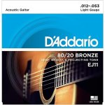 D'addario EJ11 80 20 Bronze Light Acoustic Guitar Strings
