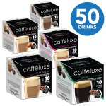 CaffeLuxe Single Serve 10 Dolce Gusto 50 Capsules Bulk Coffee Selection