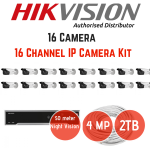 Hikvision 4MP Ip 16 Ch 16 Cam Kit 50M Night Vision 2TB Hard Drive