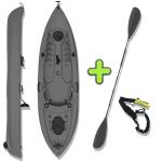 ANAC Sports Fishing Kayak with Free Paddle & Paddle Leash