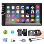 Double Din Car Stereo 7 Inch HD Car Video Player Touch Screen Radio MP5 Player Bluetooth Car Stereo Mirror LINK GPS USB SD AM FM