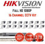 Hikvision Black Dvr 16 Channel Turbo HD Cctv Kit 6TB Hard Drive