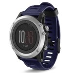 Silicone Replacement Band For Garmin Fenix 3 Watch - Navy Blue