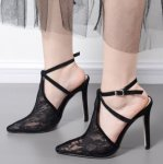 Lollipop Lingerie Beautiful Lace Ankle Straps High Heels 6-UK-AND-RSA