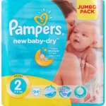 Pampers New Baby-dry Size 2 Jumbo Pack 94 Nappies