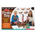 Melissa And Doug Pirate Ship 3D Puzzle And Play Set In One