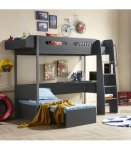 KIDS Study Bunk Bed - Charcoal