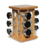 Spice Rack - Bamboo Stand & 12 Pc