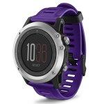 Muxika Garmin Fenix 3 Watch Band Soft Silicone Strap Replacement Watch Band With Tools For Garmin Fenix 3 Purple