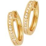Diamond Millgrain Huggies Earrings 9ct in Yellow Gold