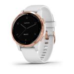 Garmin Vivoactive 4S Smart Watch in White & Rose Gold