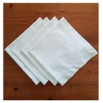 Dishy Designs 4x Napkins with Hemstitch in White