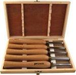 Tork Craft Chisel Set Wood Turning 270mm Hss 5 Piece Wood Case