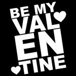 BE My Valentine Hoodie Black