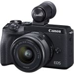 Canon Eos M6 Mark II Mirrorless Digital Camera With Ef-m 15-45MM Lens And EVF-DC2 Viewfinder