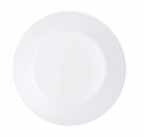 Luminarc Stairo White Tempered Glass Large Dinner Plate 270MM:DIA 12 Pack
