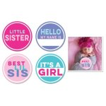 Sticky Bellies Little Sister Stickers 4-pack