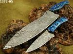 S A Knives Handmade Damascus Steel Chef's Knife Set