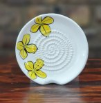 Yellow Flower African Grater Plate
