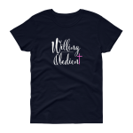 Azaliah Willing Obedient Ladies Short Sleeve T-Shirt - Navy S