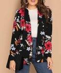 Light Floral Shawl Collar Blazer