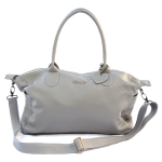 Mally Leather Bags Leather Baby Bag in Grey