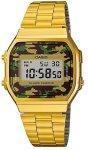 Casio Retro Wr Digital Watch - Gold And Camo