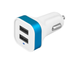 WHIZZY 4.8AMP Reversible Dual Car Charger in White