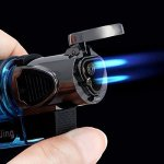 LIGHTERS Windproof Refillable Butane Gas Trip Torch Jet Flame Cigarette Cigar Lighter New