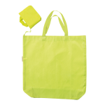 Shopping Bag In Pouch With Handle Lime