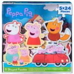 Peppa Pig 5 Shaped Puzzles In Box