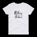 Azaliah Willing Obedient Ladies Short Sleeve T-Shirt - White XL