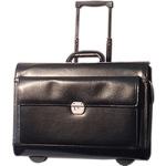 Gino De Vinci Trolley Leather Pilot Case