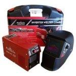 Pinnacle Welding & Safety Pinnacle Gene Arc 223 Welding Machine - 200 Amp Welder Auto Welding Helmet & Carry Case