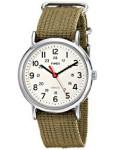 Discountwatches_SA Timex Unisex T2n651kw Weekender Olive Slip Through Strap Watch Parallel Import