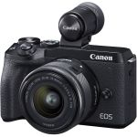 Canon Eos M6 Mark II Mirrorless Digital Camera With Ef-m 15-45MM Lens And EVF-DC2 Viewfinder Eta Late September 2019 - Now