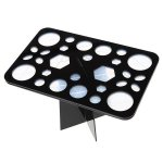 Override Makeup Brush Holder Drying Rack With 28 Mix Holes