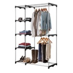Double Rod Wardrobe With 5 Shelves