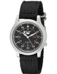Seiko Men's Snk809 5 Automatic Stainless Steel Watch With Black Canvas Strap
