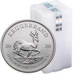 100 X One Ounce 2020 Bullion Silver Krugerrand
