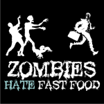 Zombies Hate Fast Food Sweater Black