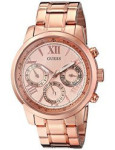 GUESS U0330L2 Women's Rose Gold-Tone Stainless Steel Watch