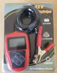 BA101 Battery Analyser and Charging System Tester for 12 Volt systems