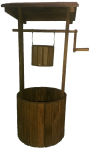 Solid Wooden Wishing Well Planter