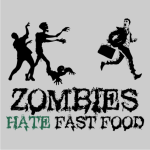 Zombies Hate Fast Food Sweater Grey