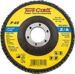 Tork Craft Flap Disc Zirconium 115mm 40 Grit Flat
