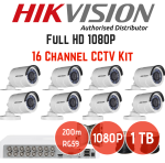 Hikvision 1080P 16 Channel Turbo HD Cctv Kit + 1TB Hard Drive