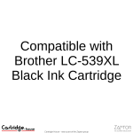 Compatible With Brother LC-539XL Black Ink Cartridge